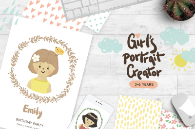 Girls portrait creator