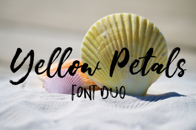 Yellow Petals Font Duo