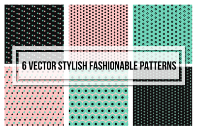 Stylish Fashionable Seamless Patterns