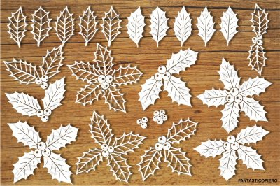 Holly, decorative holly SVG files.
