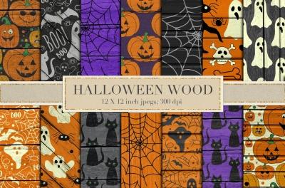 Halloween wood backgrounds