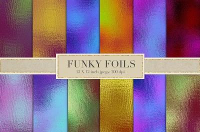 Funky foil textures