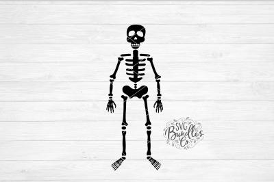 Simple Halloween Skeleton SVG-DXF-PNG