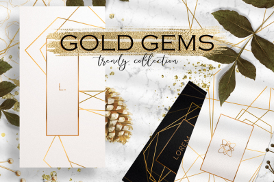 Gold Gems - trendy collection!