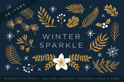 Elegant Christmas Graphic Set