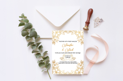 Wedding Invitation Template-v08