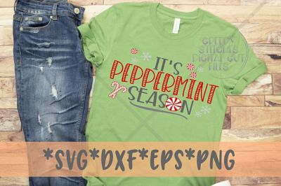 I'ts Peppermint Season SVG DXF EPS PNG| Christmas SVG