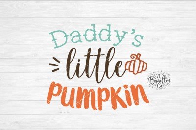 Daddy's Little Pumpkin SVG-DXF-PNG