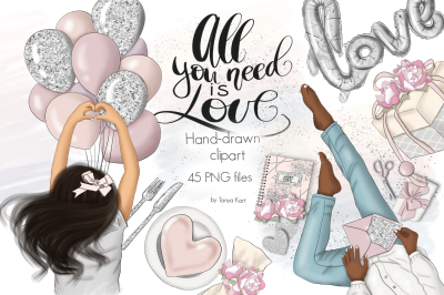 All You Need Is Love Graphic Design Kit