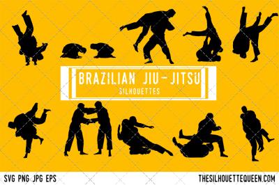 Brazilian Jiu Jitsu  Silhouette Vector