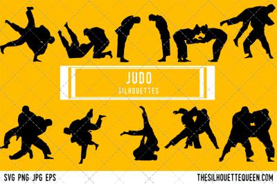 Judo  Silhouette Vector