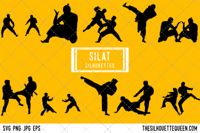 Silat  Silhouette Vector