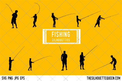 Fishing Silhouette Vector