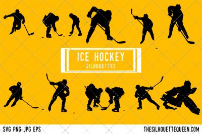 Ice Hockey Silhouette Vector
