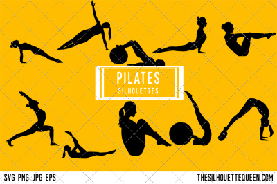 Pilates Silhouette Vector