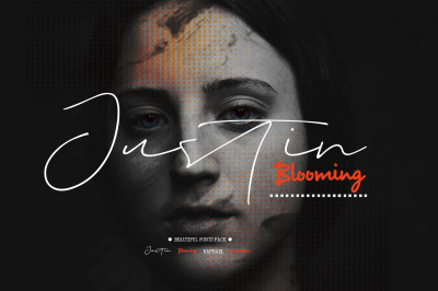 Justin Blooming (4 FONTS)