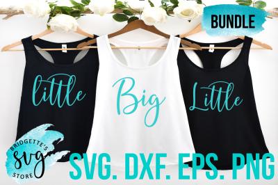 Big Little Sorority Bundle SVG, DXF, PNG, EPS File
