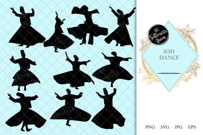 Sufi Dance Silhouette Vector