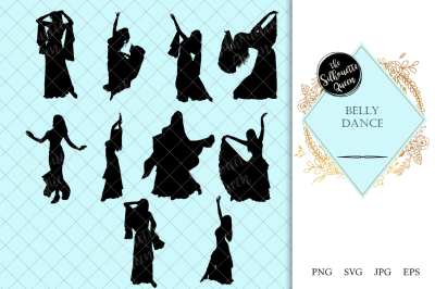 Belly Dance Silhouette Vector