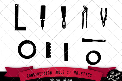 Construction Tools Silhouette Vector