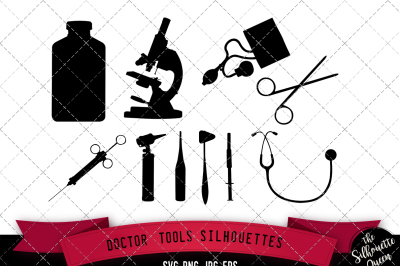Doctor Tools Silhouette Vector