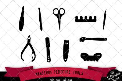 Manicure Pedicure Silhouette Vector