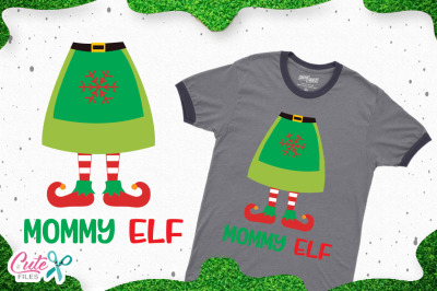 Mommy elf, christmas cut files for craftters