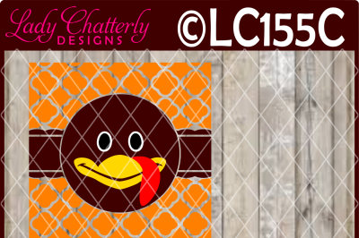 LC155C GLASS BLOCK DESIGN TURKEY FACE