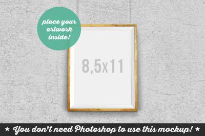 Non Photoshop Mockup Hanging Frame