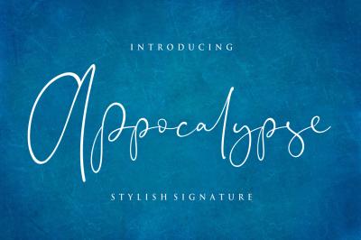 Appocalypse - Stylish Signature Font