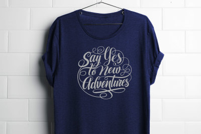 Say Yes to New Adventures Round Lettering SVG