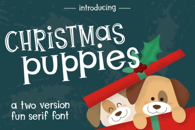 Christmas Puppies Font Pair