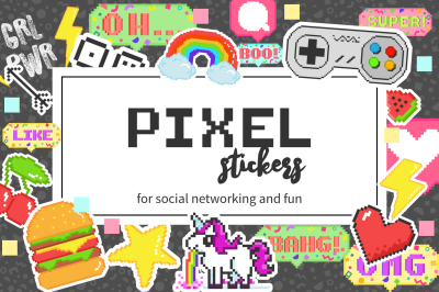 PIXEL STICKERS for social media