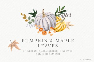 Pumpkin & Maple leaves