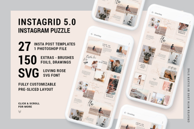 InstaGrid 5.0 - Wedding, Photography Instagram Puzzle Template