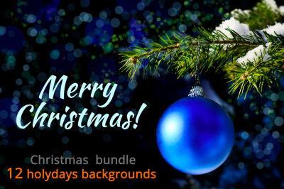Christmas backgrounds bundle.