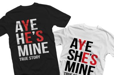 Aye he's mine true story