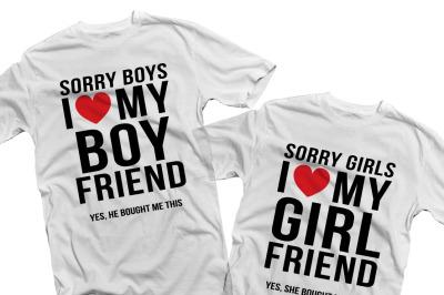 Sorry boys I love my boyfriend