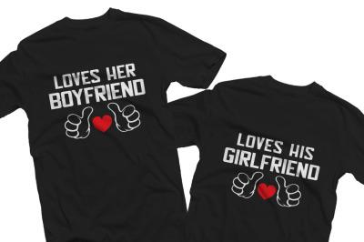 loves her boyfriend/ loves his gilfriend