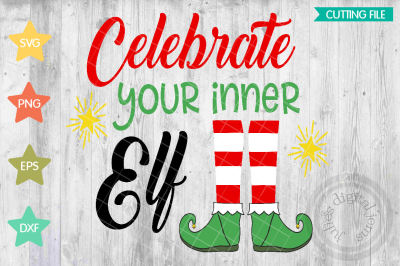 Elf Christmas cutting file SVG, PNG, DXF
