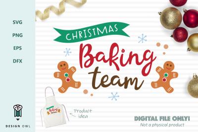 Christmas baking team - SVG file