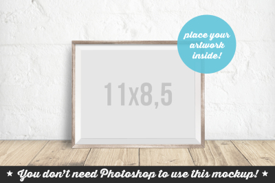Non Photoshop Mockup Bright Wooden Frame