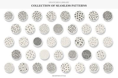 Seamless memphis vector patterns