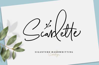 Scarlette Script (+Doodle Font)