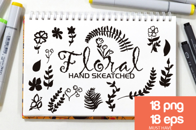 Floral ClipArt - Vector & PNG