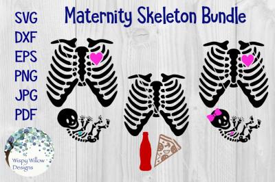 Halloween Skeleton Pregnancy Costume