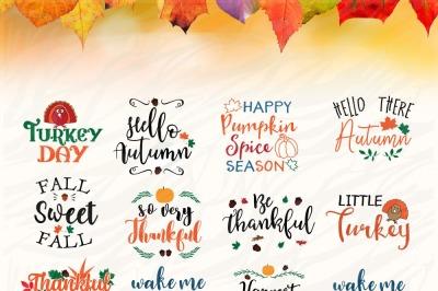 Fall season SVG Bundle , Thanksgiving SVG Printable