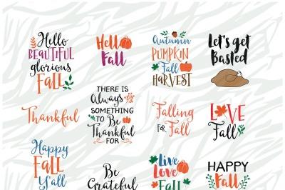 Fall season SVG Bundle 4, Thanksgiving SVG Printable