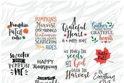 Fall season SVG Bundle 5, Thanksgiving SVG Printable