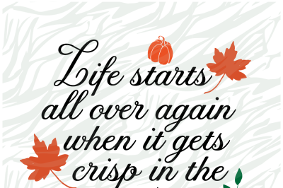 Life starts all over again Printable